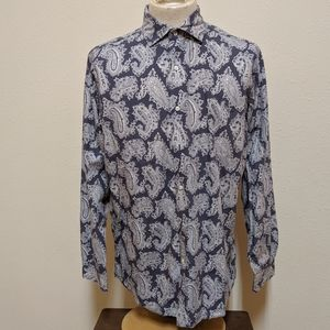 Cremieux collection button down shirt men  large